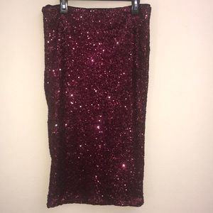 Topshop sequined skirt